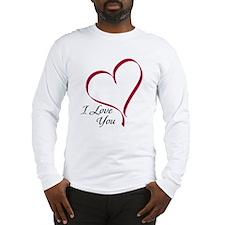 I Love You Heart Long Sleeve T-Shirt