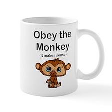 """Obey the Monkey, (it makes s Small Mug"