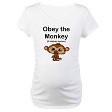 """""""Obey the Monkey, (it makes s Shirt"""