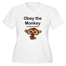 """Obey the Monkey, (it makes s T-Shirt"