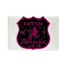 Knitting Diva League Rectangle Magnet