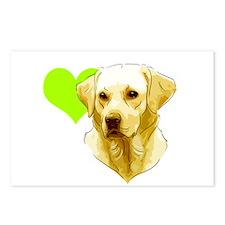 Unique Yellow labrador retriever Postcards (Package of 8)