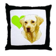 Cute Yellow labrador Throw Pillow