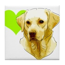 Cool Yellow labrador Tile Coaster
