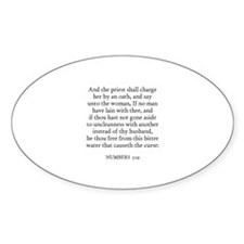NUMBERS 5:19 Oval Decal