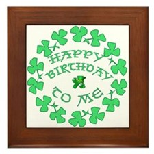 St Pats Happy Birthday To Me Framed Tile