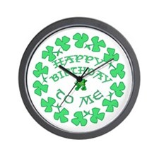 St Pats Happy Birthday To Me Wall Clock