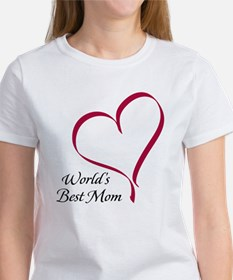 World's Best Mom Heart Women's T-Shirt
