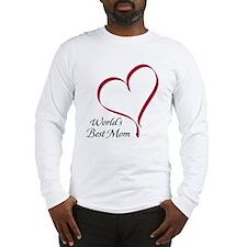 World's Best Mom Heart Long Sleeve T-Shirt
