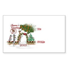 Toggenburg Goat Gift Rectangle Decal