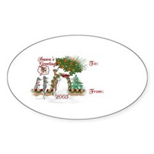 Toggenburg Goat 2005 Gift Tag Oval Decal