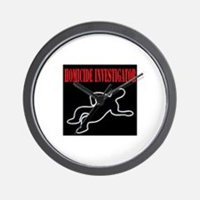 Homicide Investigator Wall Clock