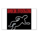Homicide Investigator Rectangle Sticker 10 pk)