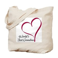 World's Best Grandma Heart Tote Bag
