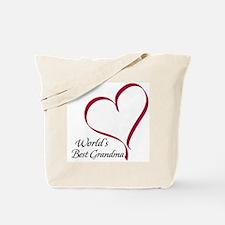 World's Best Grandma Heart Tote Bag
