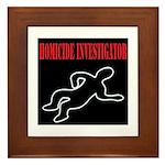Homicide Investigator Framed Tile