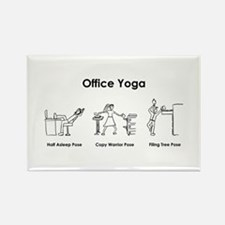 Office Yoga Rectangle Magnet
