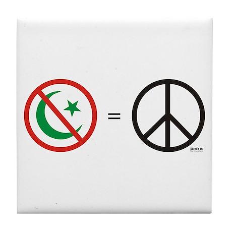 No Islam, Know Peace Tile Coaster