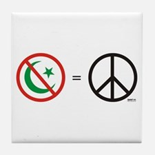 No Islam, Know Peace Tile Coaster