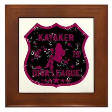 Kayaker Diva League Framed Tile