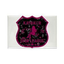 Kayaker Diva League Rectangle Magnet