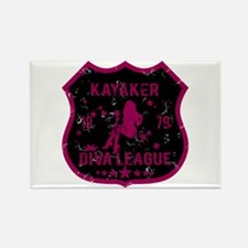 Kayaker Diva League Rectangle Magnet