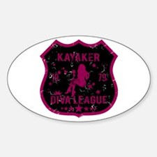 Kayaker Diva League Oval Decal