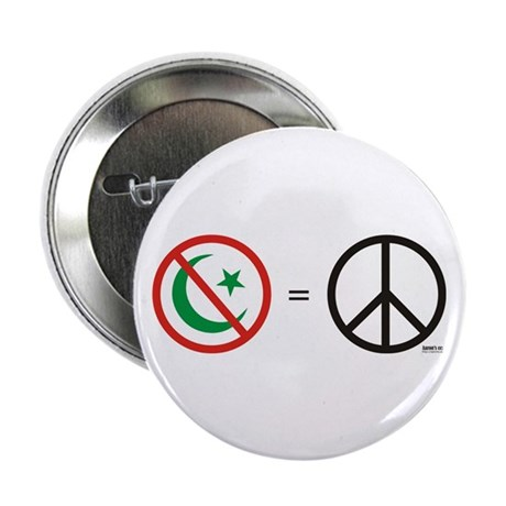 """No Islam, Know Peace 2.25"""" Button (100 pack)"""