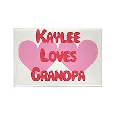 Kaylee Loves Grandpa Rectangle Magnet