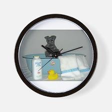 Unique Black schnauzer Wall Clock