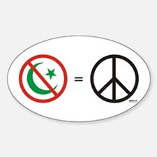No Islam = Know Peace Oval Decal