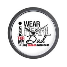 Lung Cancer (Dad) Wall Clock