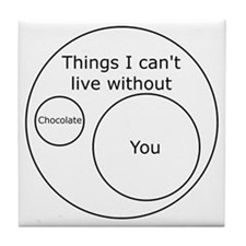 Can't Live Without You Tile Coaster