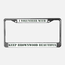 """""""I Volunteer"""" License Plate Frame"""