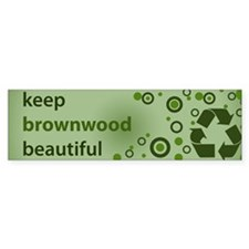 Keep Brownwood Beautiful Bumper Bumper Sticker