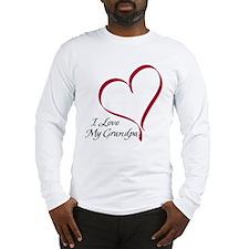 I Love My Grandpa Heart Long Sleeve T-Shirt