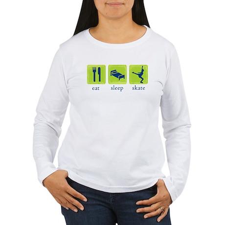 Eat Sleep Skate Women's Long Sleeve T-Shirt