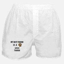 My best friend is a LUCAS TERRIER Boxer Shorts