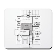 Eichler Floor Plan Mousepad