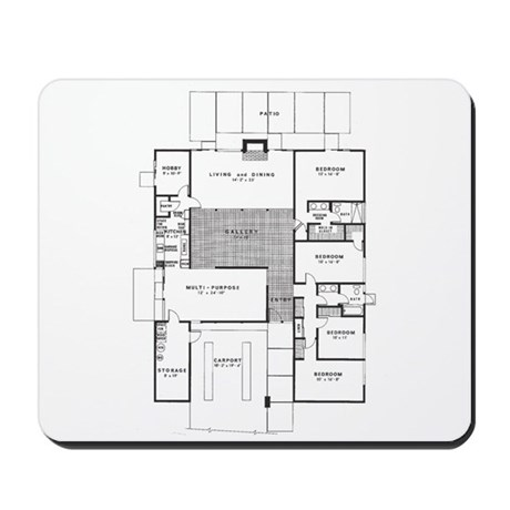 Eichler Floor Plan Mousepad By Eichler