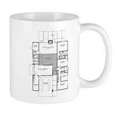 Eichler Floor Plan Small Mug