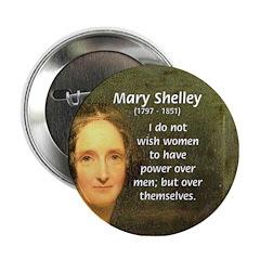 Novelist Mary Shelley Button