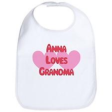 Anna Loves Grandma Bib