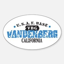 Vandenberg Air Force Base Oval Decal