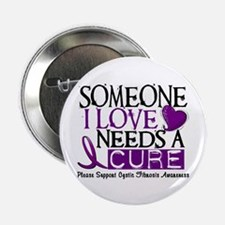 """Needs A Cure CYSTIC FIBROSIS 2.25"""" Button"""