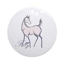 Cute Horse Filly Ornament (Round)