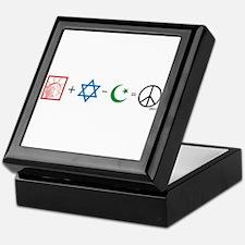 USA plus Israel minus Islam is Peace Keepsake Box