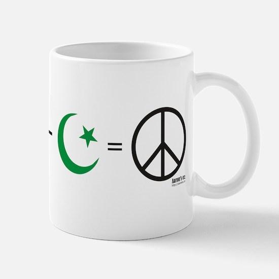 USA plus Israel minus Islam is Peace Mug