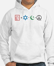 USA plus Israel minus Islam is Peace Hoodie
