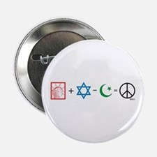 USA plus Israel minus Islam is Peace Button